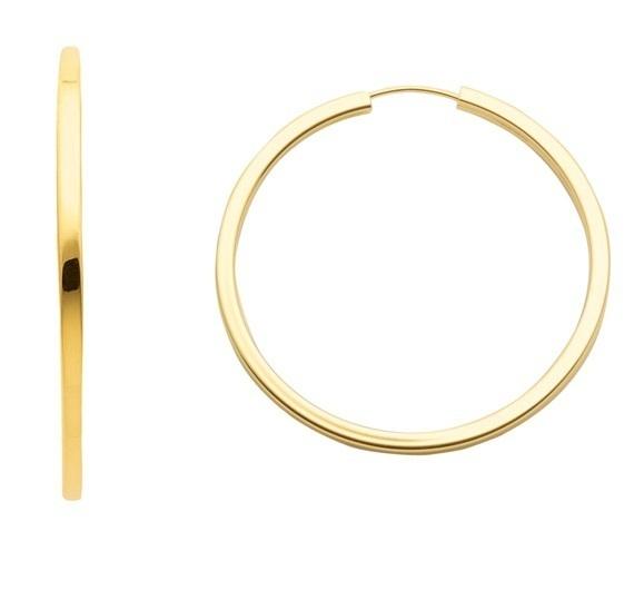 große klassische 333 Gold Draht Creolen 3,8 cm x 2,5 mm 179 Euro