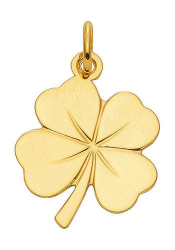 585 Gold Kleeblatt Kettenanhänger