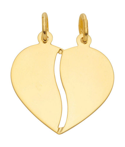333 Gold Herz Partner Kettenanhänger zum Teilen