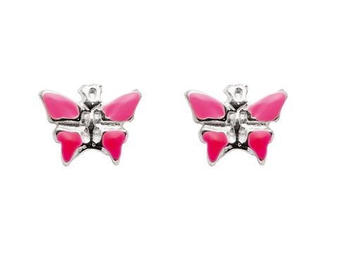 925 Silberohrstecker Schmetterling