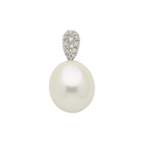 Perlen Anhänger mit Süßwasserzuchtperle Weißgold