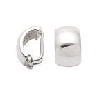 925 Silber Ohrclip glänzend poliert 7,5mm breit