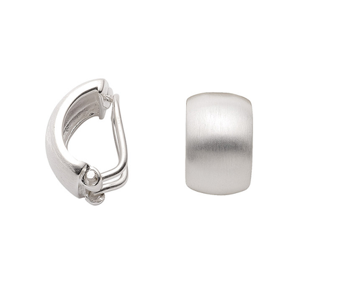 925 Silber Ohrclip mattiert