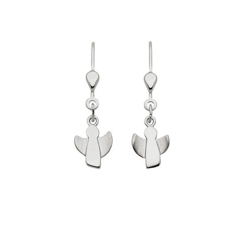 925 Silber Ohrhänger Engel matt/glänzend