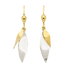 Ohrhänger in 333 Gold bicolor bewegliche Blätter