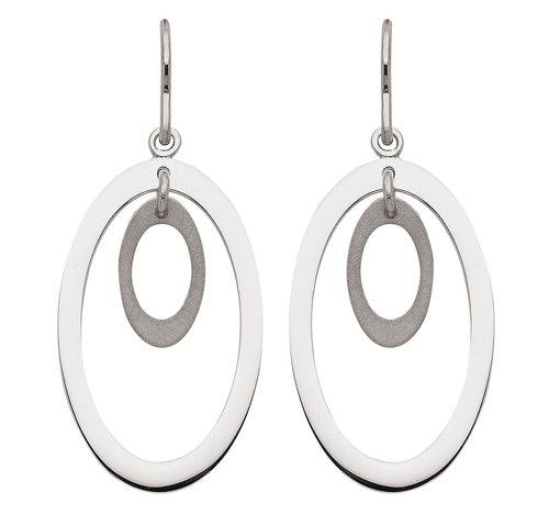 925 Silber Ohrhänger matt/glänzend poliert