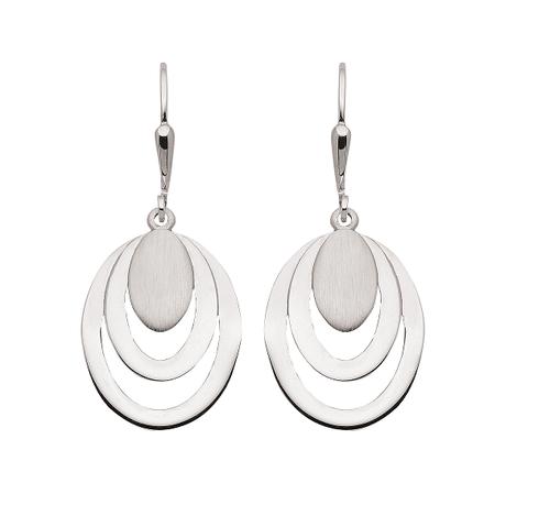 925 Silber Ohrhänger matt und glänzend poliert