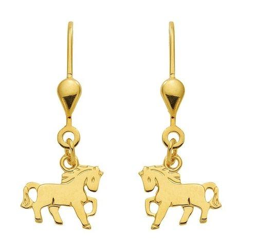 goldene Pferde Ohrhänger