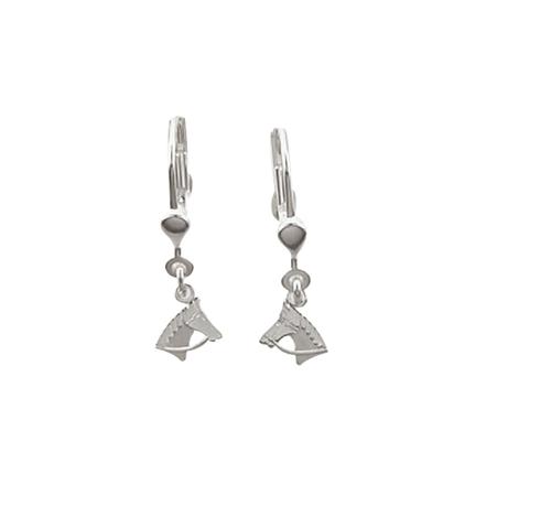 925 Silber Ohrhänger Pferdekopf