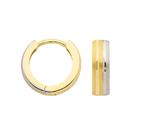 3,9mm Klappcreole in 333 Gold bicolor weiss/gelb
