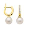 585 Gold Perlen Brillant Klappcreole 2,2mm breit