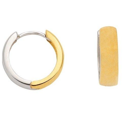 585 Gold Creolen Bicolor Wendecreole