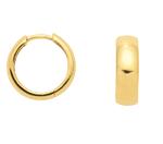 4mm breite 925 Silber vergoldete Klappcreolen