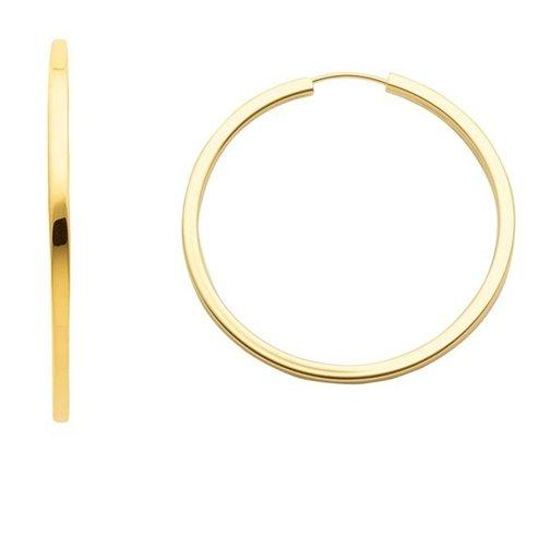 333 Gold Draht Creolen 3 cm  x  2,5 mm