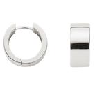 Silber klassische Creolen 8 mm breit und schwer