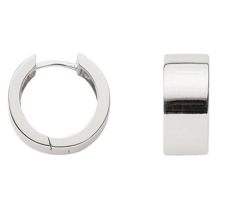 925 Silber klassische Creolen 8 mm breit massiv