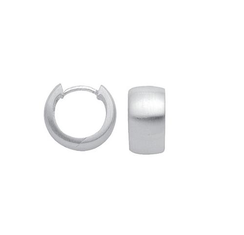 Silber klassische Creolen 7 mm breit mattiertes Design