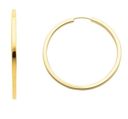 333 Gold Draht Creolen 3,8 cm  x  2,5 mm
