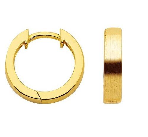 925 Silber Creolen vergoldet poliert/mattiert 13,8 mm