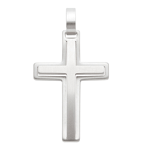 Edelstahl Kreuzanhänger 29,1 mm Länge
