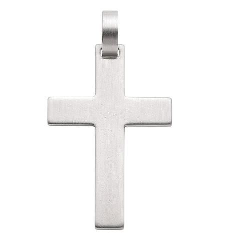 Kreuz Anhänger Edelstahl 28 mm Länge