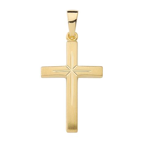 Kreuzanhänger in 333 Gold 21,7mm lang