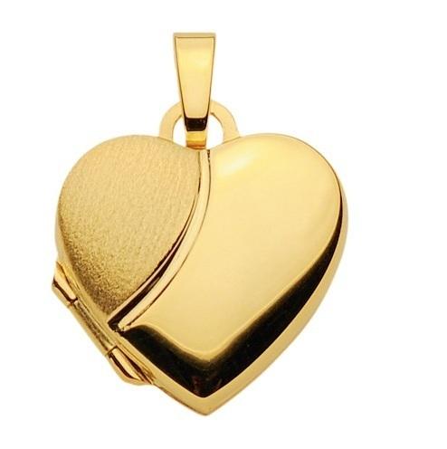 333 Gold Herz Medallion matt/poliert  14,4 x 14,4 mm