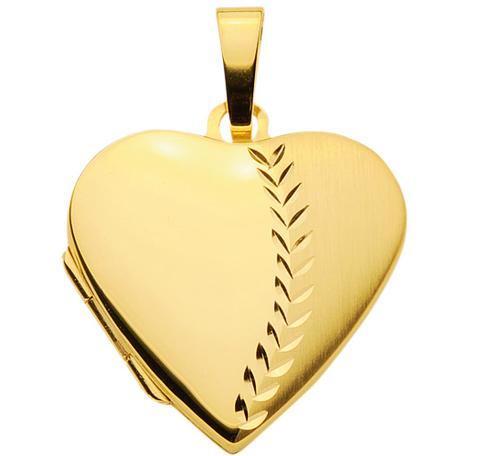 Herz Medaillon zum öffnen 20,5 x19,5 mm teilmattiert