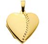 333 Gold Medallion zum öffnen 20,5 x19,5 mm groß teilw. mattiert