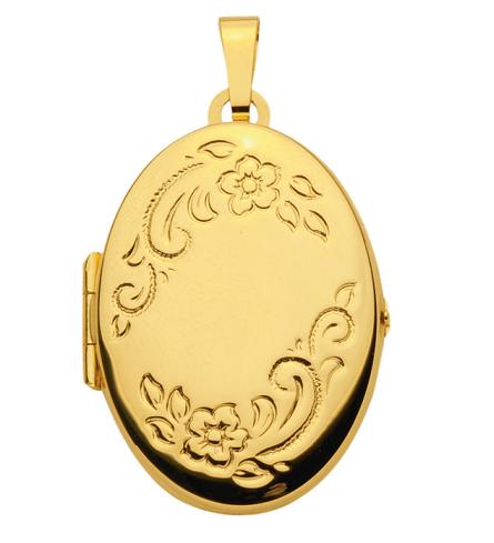 Medaillon in ovaler klassischer Form 21,5 x 28 mm