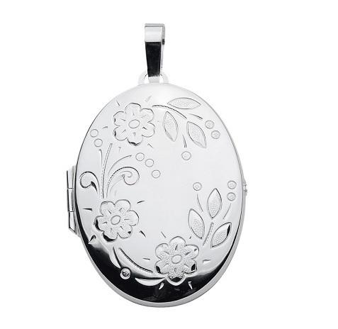 925 Silber großes Medallion oval in 29,2 x37,1 mm