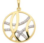 333 Gold  mit  Zirkonia  besetzter Kettenanhänger