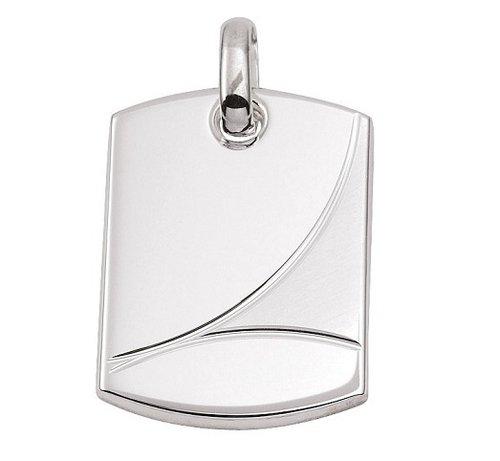 Silber schwere Gravurplatte 27,3 x19,5  mm matt/poliert