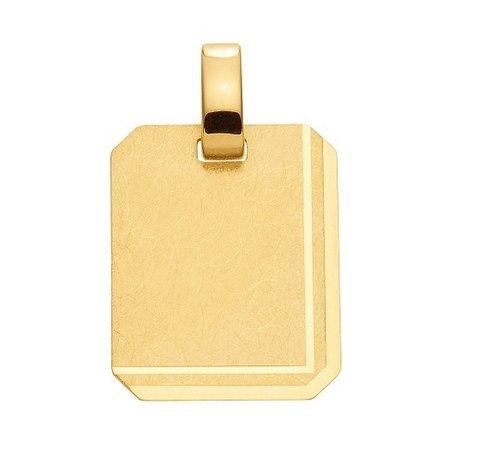 333 Gold Gravurplatte als Kettenanhänger 13,6 x 15,5 mm