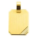 Gravurplatte mattiert mit Schliff in 333 oder 585 Gold
