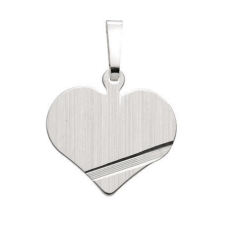 925 Silber Herz Gravurplatte 16,9 x 14,9 mm