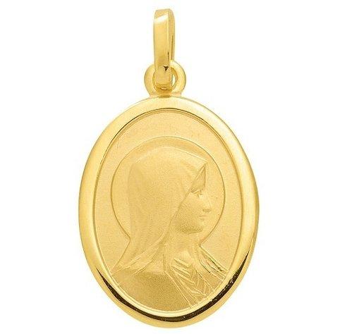 Madonna Gold Anhänger Größe 10 x 14 mm