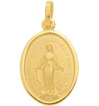 Heilige Mutter Gottes Anhänger in Gold