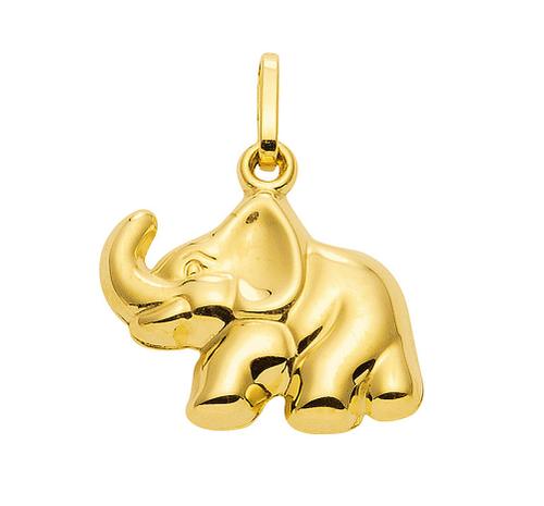333 Gold Elefant Kettenanhänger11,5 x 18,2 mm