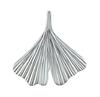 Ginkgoblatt Anhänger in 925 Silber