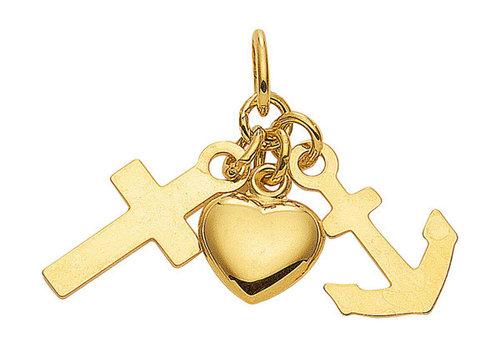 """333 Gold """"Glaube Liebe Hoffnung """" Anhänger"""