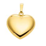 Herz aus Gold 18 x 14,5 mm groß