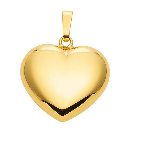585 Gelbgold Herz Anhänger 18 x 14,5 mm