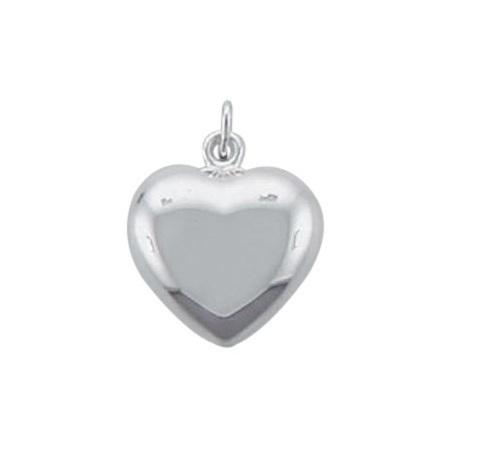 Silber Herzanhänger 11,3 x 12,5 mm