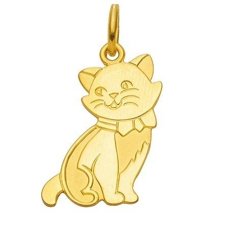 Kätzchen Katze Kettenanhänger echt Gold