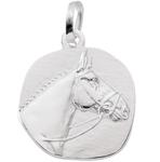 925 Silber Pferdekopf Kettenanhänger