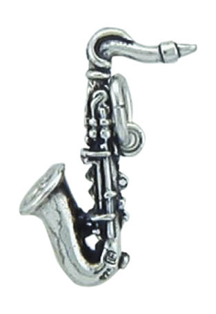 925 Silber Saxophon Kettenanhänger
