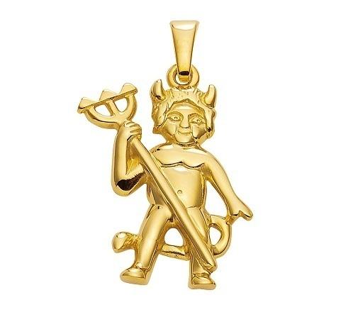 333 Gold Teufel Kettenanhänger