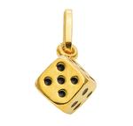 333 Gold Würfel Kettenanhänger