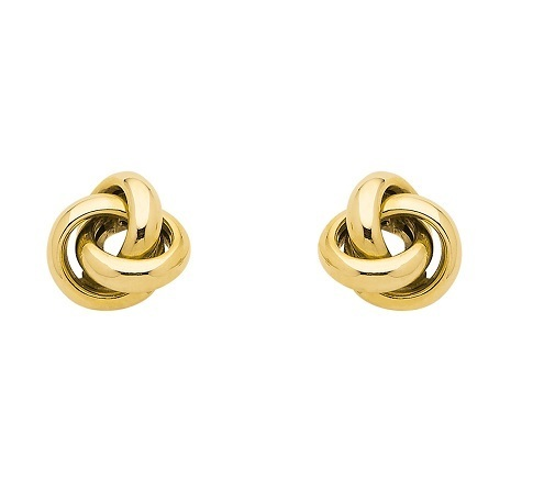 333 Gold Ohrstecker Knoten poliert